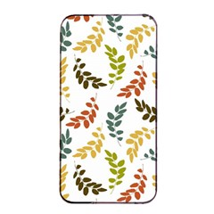 Colorful Leaves Seamless Wallpaper Pattern Background Apple Iphone 4/4s Seamless Case (black)