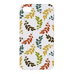 Colorful Leaves Seamless Wallpaper Pattern Background Apple iPhone 4/4S Hardshell Case