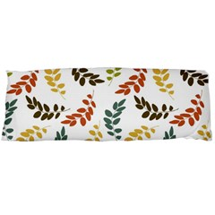 Colorful Leaves Seamless Wallpaper Pattern Background Body Pillow Case Dakimakura (Two Sides)