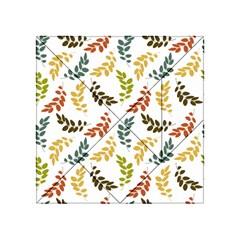Colorful Leaves Seamless Wallpaper Pattern Background Acrylic Tangram Puzzle (4  x 4 )