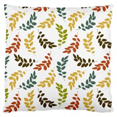Colorful Leaves Seamless Wallpaper Pattern Background Large Cushion Case (One Side)