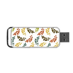 Colorful Leaves Seamless Wallpaper Pattern Background Portable USB Flash (Two Sides)