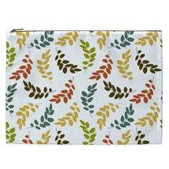 Colorful Leaves Seamless Wallpaper Pattern Background Cosmetic Bag (XXL)