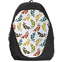 Colorful Leaves Seamless Wallpaper Pattern Background Backpack Bag