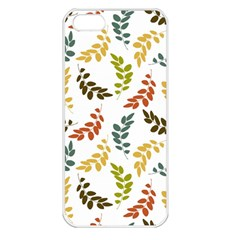 Colorful Leaves Seamless Wallpaper Pattern Background Apple iPhone 5 Seamless Case (White)