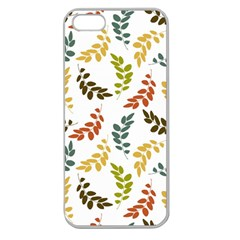 Colorful Leaves Seamless Wallpaper Pattern Background Apple Seamless iPhone 5 Case (Clear)