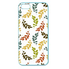 Colorful Leaves Seamless Wallpaper Pattern Background Apple Seamless iPhone 5 Case (Color)