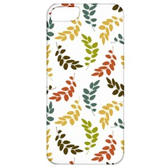 Colorful Leaves Seamless Wallpaper Pattern Background Apple iPhone 5 Classic Hardshell Case