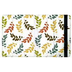 Colorful Leaves Seamless Wallpaper Pattern Background Apple Ipad 2 Flip Case