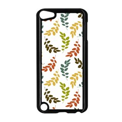 Colorful Leaves Seamless Wallpaper Pattern Background Apple Ipod Touch 5 Case (black)