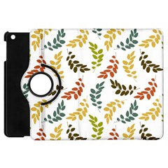 Colorful Leaves Seamless Wallpaper Pattern Background Apple iPad Mini Flip 360 Case