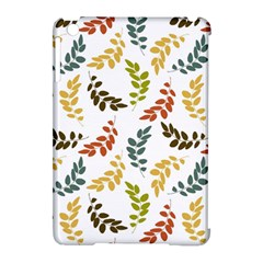 Colorful Leaves Seamless Wallpaper Pattern Background Apple Ipad Mini Hardshell Case (compatible With Smart Cover)