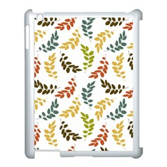 Colorful Leaves Seamless Wallpaper Pattern Background Apple iPad 3/4 Case (White)