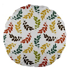 Colorful Leaves Seamless Wallpaper Pattern Background Large 18  Premium Round Cushions