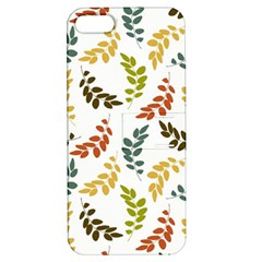 Colorful Leaves Seamless Wallpaper Pattern Background Apple Iphone 5 Hardshell Case With Stand