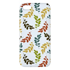 Colorful Leaves Seamless Wallpaper Pattern Background Apple iPhone 5 Premium Hardshell Case