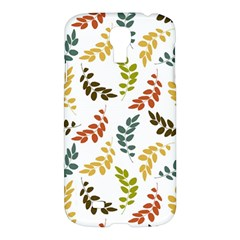 Colorful Leaves Seamless Wallpaper Pattern Background Samsung Galaxy S4 I9500/I9505 Hardshell Case
