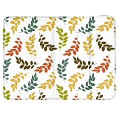 Colorful Leaves Seamless Wallpaper Pattern Background Samsung Galaxy Tab 7  P1000 Flip Case