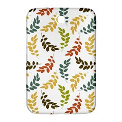 Colorful Leaves Seamless Wallpaper Pattern Background Samsung Galaxy Note 8.0 N5100 Hardshell Case