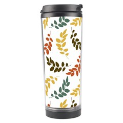 Colorful Leaves Seamless Wallpaper Pattern Background Travel Tumbler