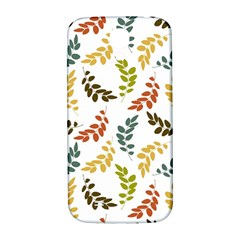 Colorful Leaves Seamless Wallpaper Pattern Background Samsung Galaxy S4 I9500/i9505  Hardshell Back Case
