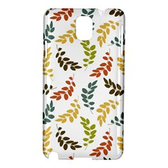 Colorful Leaves Seamless Wallpaper Pattern Background Samsung Galaxy Note 3 N9005 Hardshell Case