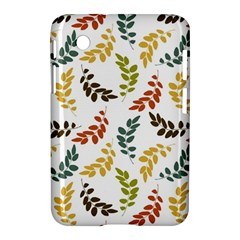 Colorful Leaves Seamless Wallpaper Pattern Background Samsung Galaxy Tab 2 (7 ) P3100 Hardshell Case