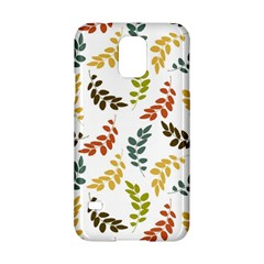 Colorful Leaves Seamless Wallpaper Pattern Background Samsung Galaxy S5 Hardshell Case