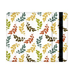 Colorful Leaves Seamless Wallpaper Pattern Background Samsung Galaxy Tab Pro 8 4  Flip Case