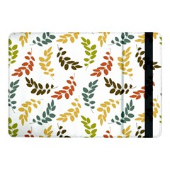 Colorful Leaves Seamless Wallpaper Pattern Background Samsung Galaxy Tab Pro 10.1  Flip Case