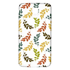 Colorful Leaves Seamless Wallpaper Pattern Background Samsung Galaxy S5 Back Case (White)