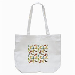 Colorful Leaves Seamless Wallpaper Pattern Background Tote Bag (White)