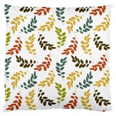 Colorful Leaves Seamless Wallpaper Pattern Background Large Flano Cushion Case (Two Sides)