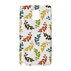 Colorful Leaves Seamless Wallpaper Pattern Background Samsung Galaxy Note 4 Hardshell Case