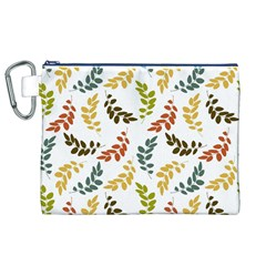 Colorful Leaves Seamless Wallpaper Pattern Background Canvas Cosmetic Bag (XL)
