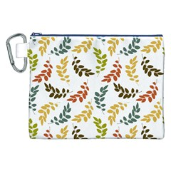 Colorful Leaves Seamless Wallpaper Pattern Background Canvas Cosmetic Bag (XXL)
