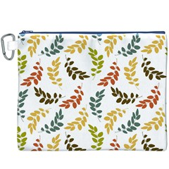 Colorful Leaves Seamless Wallpaper Pattern Background Canvas Cosmetic Bag (XXXL)
