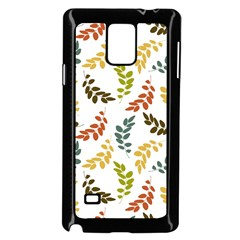 Colorful Leaves Seamless Wallpaper Pattern Background Samsung Galaxy Note 4 Case (black)