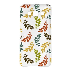Colorful Leaves Seamless Wallpaper Pattern Background Samsung Galaxy A5 Hardshell Case