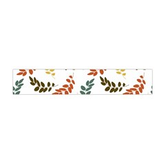 Colorful Leaves Seamless Wallpaper Pattern Background Flano Scarf (Mini)