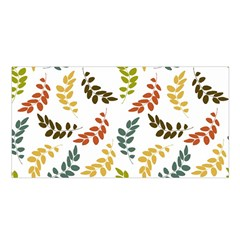 Colorful Leaves Seamless Wallpaper Pattern Background Satin Shawl