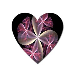 Pink And Cream Fractal Image Of Flower With Kisses Heart Magnet