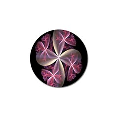 Pink And Cream Fractal Image Of Flower With Kisses Golf Ball Marker (4 Pack)
