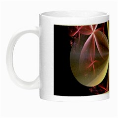 Pink And Cream Fractal Image Of Flower With Kisses Night Luminous Mugs