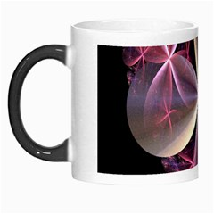 Pink And Cream Fractal Image Of Flower With Kisses Morph Mugs