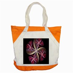 Pink And Cream Fractal Image Of Flower With Kisses Accent Tote Bag