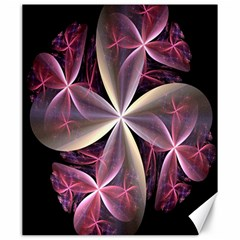 Pink And Cream Fractal Image Of Flower With Kisses Canvas 20  x 24
