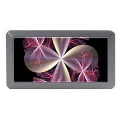Pink And Cream Fractal Image Of Flower With Kisses Memory Card Reader (mini)