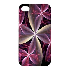 Pink And Cream Fractal Image Of Flower With Kisses Apple iPhone 4/4S Hardshell Case