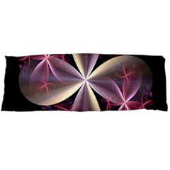 Pink And Cream Fractal Image Of Flower With Kisses Body Pillow Case Dakimakura (Two Sides)